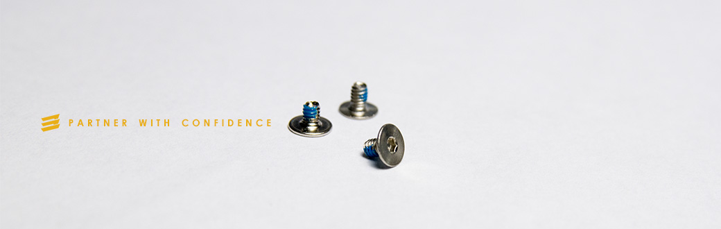 Custom micro fasteners and small screws.